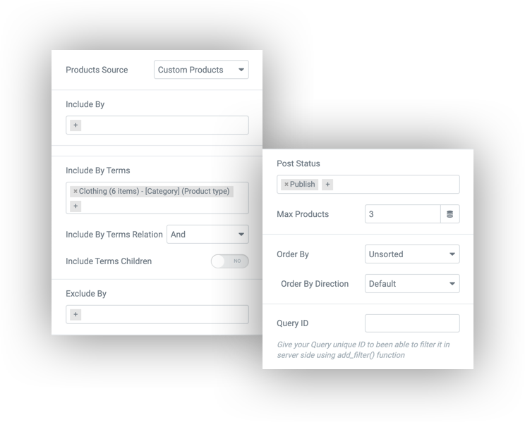 product query builder