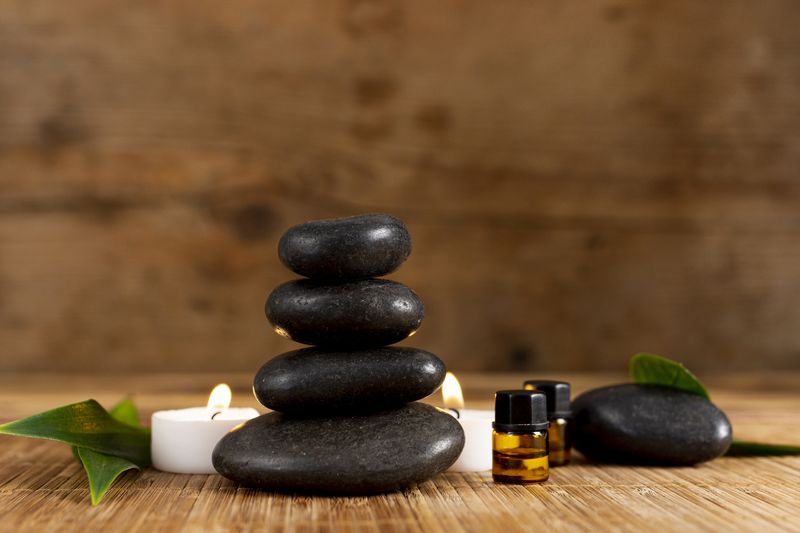 spa-arrangement-with-stones-candle