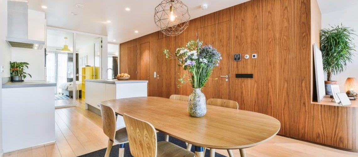 Luxury and beautiful dining room interior design